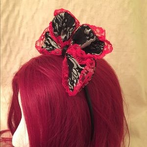 Lace bow head band